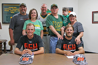 baseball signing ECU