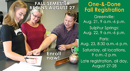 Fall registration promo