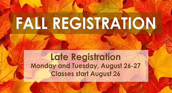 fall registration dates photo