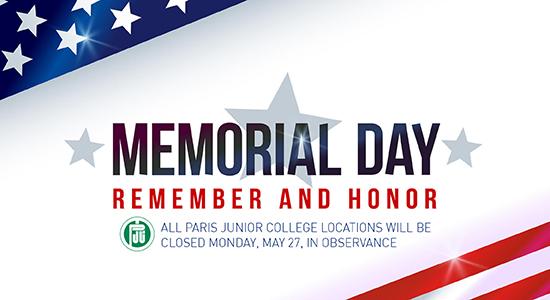 Memorial Day Notice