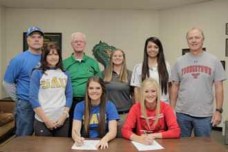 Signing of two PJC softball players photo