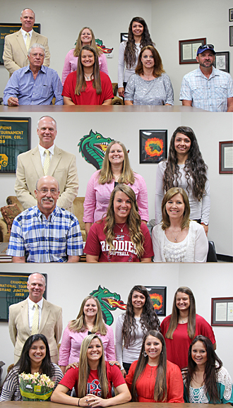 PJC softball signees 2014