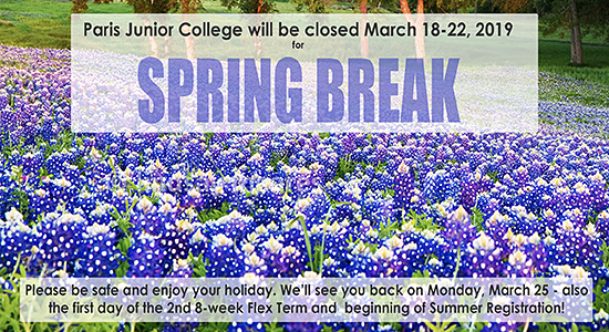 Spring Break 2014 notice