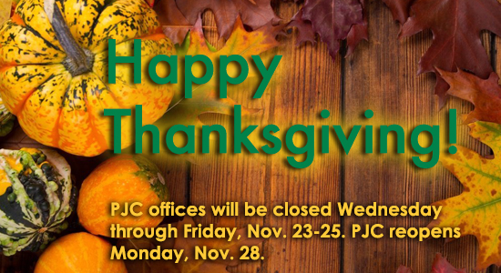 Thanksgiving notice